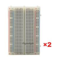2Pcs Solderless Breadboard Bread Board 400 Contacts Available Test Develop DIY