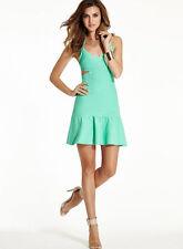 NWT GUESS Mirage Scuba Sexy Bandage Sleeveless dress Cutout Mint green S 4 5