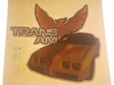 Vintage Iron On T-Shirt Transfer: TRANS AM Hot Rod Car Glitter