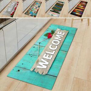 Rectangle Long Kitchen Floor Carpets Hall Rug Bathroom Runner Non-slip Door Mats