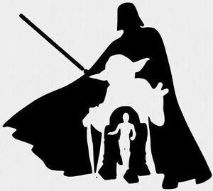 Darth Vader Yoda R2D2 C3PO Star Wars Vinyl Decal Wall FREE GIFT WITH PURCHASE