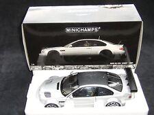 MINICHAMPS 1/18 • BMW M3 GTR E46 STREET 2001 • silver / carbon neu / OVP selten
