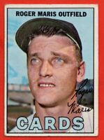 1967 Topps #45 Roger Maris VG/VG+ WRINKLE St. Louis Cardinals FREE SHIPPING