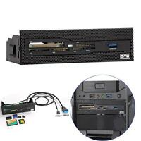"""USB 3.0 Front Panel 3.5"""" Floppy Power PC Bay M2 MSO SD MS XD Memory Card Reader"""
