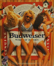 1988 Budweiser Beer Girls in Swimsuits photo vintage print Ad