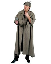 Sherlock Holmes Complete Costume Inverness Cape Hat and Pipe Detective Inspector