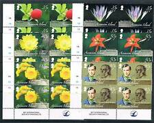 Ascension Is 2009 Flowers Joseph Hooker PLATE BLOCKS SG 1042/7 MNH