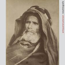 Portrait eines Beduinen. Albuminabzug um 1880.