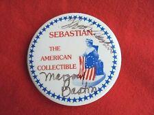 Vintage Sebastian Miniatures Advertising Pinback Signed by Woody Bastian