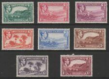 More details for monserrat mint gvi 1938-48 short p13 set to 1/- sg101-108