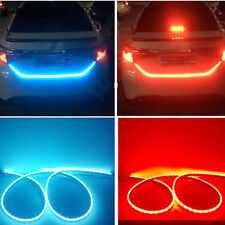 LED Ice Blue&Red DRL Brake Side Turn Signal Trunk Boot Strip Light for brezza