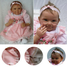 "22"" Soft Vinyl Real Lifelike Reborn Baby Dolls Silicone Newborn Dolls Xmas Gift"