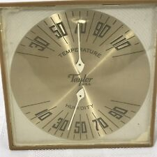 Taylor Temperature & Humidity Gauge Weather Station Vintage