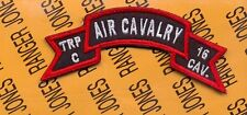 US Army Troop C Air Cavalry 16th Regiment scroll arc tab patch