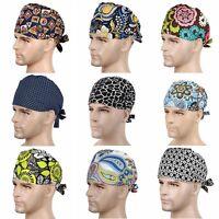 New 9 Kinds Men Doctor/Nurses Printing Scrub Cap Medical Surgical Surgery Hat