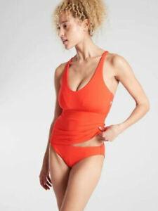 Details about  /NWT Athleta Vermillian Orange Vintage Floral Blousy Tankini Swim Top Size S