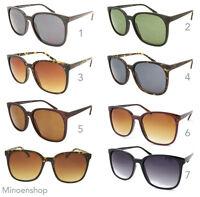 Ladies Oversized Square Frame Sunglasses Retro 80's