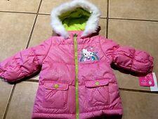 NWT Hello Kitty Girl 2T Pink Sparkle Puffy Fleece Hood Winter Jacket Cute