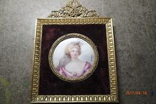 Antique 19th century miniature painting on Ivory