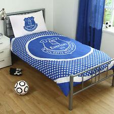 Everton FC Football Blue Boys Reversible Single Duvet Quilt Cover Bedding Set