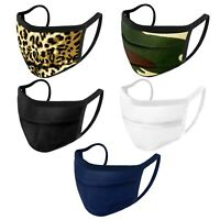 iFab Washable Reusable Face Mask - Cloth Protection Masks, Pleated - 95% Poly