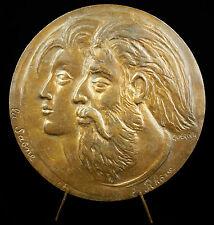 Médaille Allégories Saône le Rhône Éridan Dieu fleuve mythologie grecque medal