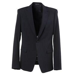Emporio Armani Slim-Fit 'David Line' Black Wool Suit with Peak Lapels 42 (Eu 52)