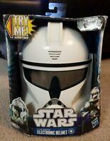 Star Wars Clone Trooper Electronic Helmet New Sealed Hasbro RARE Needs Batteries