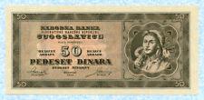 YUGOSLAVIA 50 Dinara 1950 P67U UNC