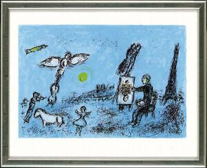 Marc Chagall (1887-1985), Le Peintre et son double, 1981, Originalgrafik,gerahmt