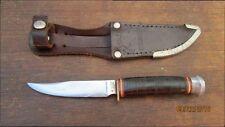 FINE Vintage R. HERDER Germany Smaller Carbon Steel Hunting Knife - RAZOR SHARP