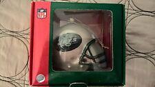 "NFL New York Jets Scottish Christmas Glass Football Helmet 3"" Christmas Ornament"