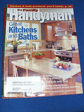 FAMILY HANDYMAN OCTOBER 2002 KITCHEN & BATHS GRANITE COUNTERTOPS DE-SQUEAK FLOOR