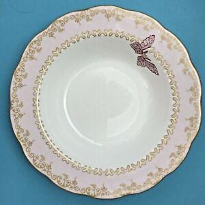 Royal Albert China Zandra Rhodes My Favourite Things Pink Rimmed Bowl d 20.5 cm