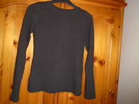 Black round neck long sleeve hip length top, PRIMARK YOUNG DIMENSION 9-10 years