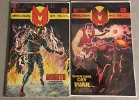 Miracleman #1 & 2 SET  Eclipse Comics 1985 Alan Moore Garry Leach in MYLAR