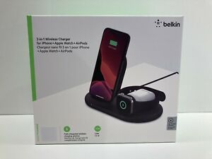 Belkin - BOOST CHARGE3-in-1 Wireless Charger For iPhone + Apple Watch + Air....