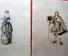 Le Misanthrope 2 gravures JEANNIOT 1848 1934 Gravé Florian