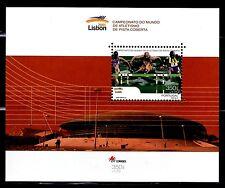 SELLOS DEPORTES PORTUGAL  2001 2463 CAMPEONATO DEL MUNDO DE ATLETISMO HB