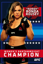 RONDA ROUSEY Women's Champion Official UFC Superstar Commemorative Wall POSTER