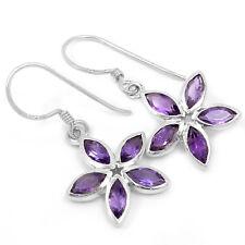 Amethyst 925 Sterling Silver Earrings Jewelry E2328A