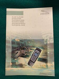 JAGUAR IN-CAR TELEPHONE BLUETOOTH HANDBOOK OWNER MANUAL 2003-2007 XJ XK X&S TYPE