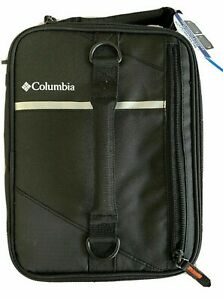 Columbia Grid Line Expandable Black Lunch Pack/Tote With Adjustable Strap NEW!