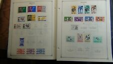 Rwanda stamp collection on Scott Int'l pages w/est #500 to '80