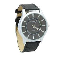 bbeda28ccce32 Schwarze versilberte Armbanduhren für Herren günstig kaufen