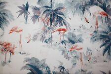 Baumwolle Robert Kaufman Flamingo Pradise blue vintage
