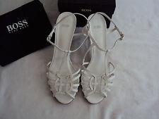Hugo Boss Leder Sandaletten NP: 285€ High Heels Pumps Schuhe Gr. 39 39,5 40