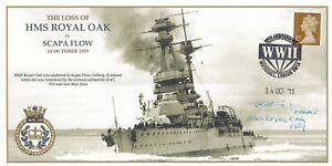 The Loss of HMS Royal Oak Signed by lt Col N Thackeray Survivor HMS Royal Oak
