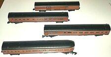 Marklin Z Mini Club Pennsylvania Railroad 4 Passenger Car Set (no box)