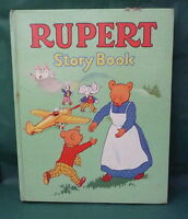 VINTAGE RUPERT STORY BOOK 1967 pale green cover